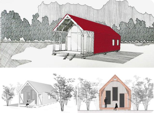 Perspectives d'une maison en bois écologique