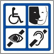 Logo représentant les adapations possibles de formations au handicap